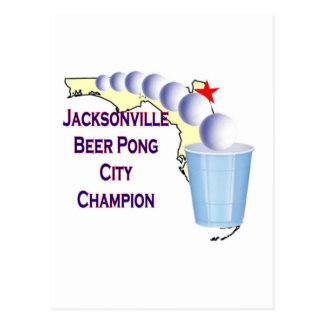 Jacksonville Beer Pong Champion Postcard