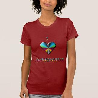 Jacksonville -- Blue Green & Burgundy T-Shirt