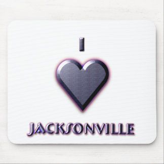 Jacksonville -- Blue with glow Mouse Pads