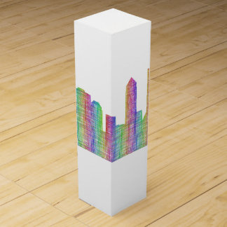 Jacksonville city skyline wine box