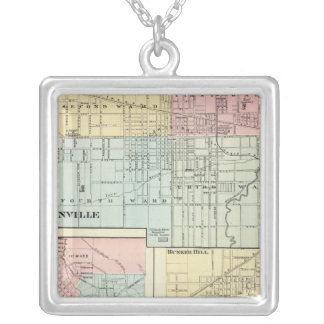 Jacksonville, Edwardsville, Pana Silver Plated Necklace