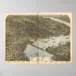 Jacksonville Florida 1893 Panoramic Map Poster