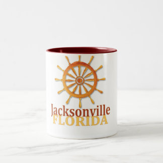 Jacksonville Florida captain s wheel coffee mug