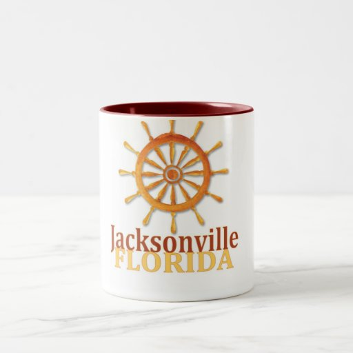 Jacksonville Florida captain's wheel coffee mug