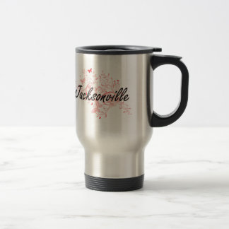 Jacksonville Florida City Artistic design with but Stainless Steel Travel Mug