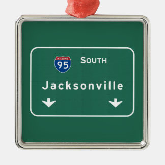 Jacksonville Florida Interstate Highway Freeway : Christmas Ornament