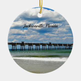 Jacksonville, Florida Pier photo Christmas Ornament