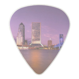 Jacksonville Florida Skyline at Night Acetal Guitar Pick