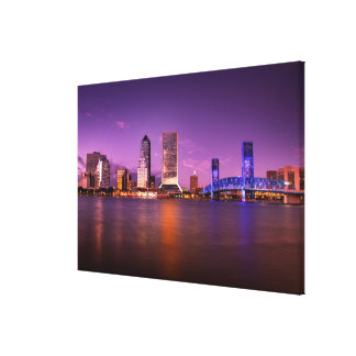 Jacksonville Florida Skyline at Night Canvas Print