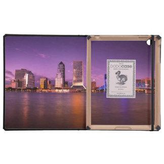 Jacksonville Florida Skyline at Night iPad Case