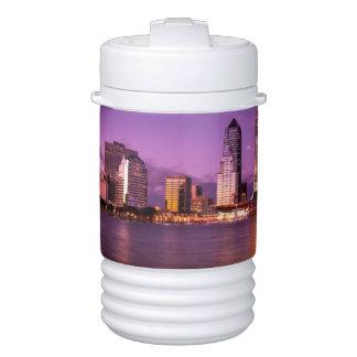 Jacksonville Florida Skyline at Night Cooler