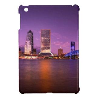 Jacksonville Florida Skyline at Night Cover For The iPad Mini