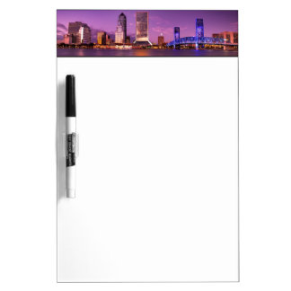 Jacksonville Florida Skyline at Night Dry Erase Board