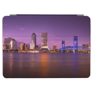 Jacksonville Florida Skyline at Night iPad Air Cover