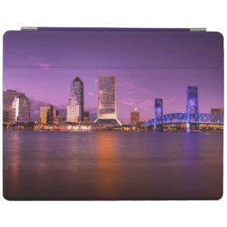 Jacksonville Florida Skyline at Night iPad Cover