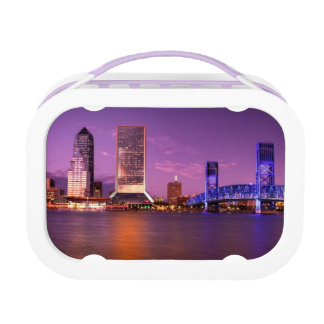 Jacksonville Florida Skyline at Night Lunch Box