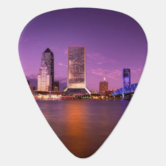 Jacksonville Florida Skyline at Night Plectrum
