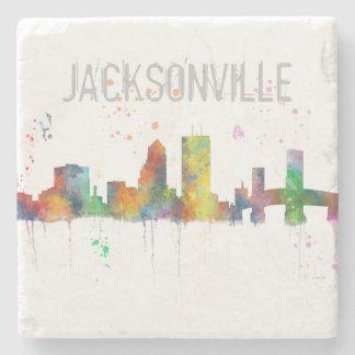 JACKSONVILLE, FLORIDA SKYLINE STONE COASTER