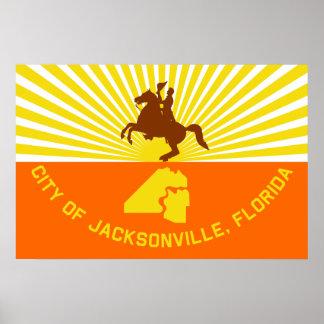 Jacksonville, Florida, United States flag Poster