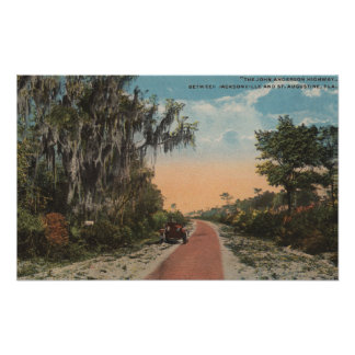 Jacksonville, Florida - View of John Anderson Poster