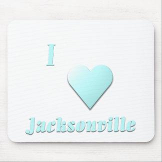 Jacksonville -- Light Blue Mouse Pads