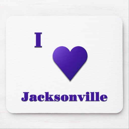 Jacksonville -- Midnight Blue Mouse Pads