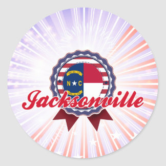 Jacksonville NC Round Stickers