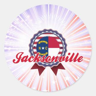 Jacksonville, NC Round Stickers