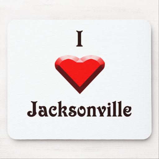 Jacksonville -- Red & Black Mouse Pad