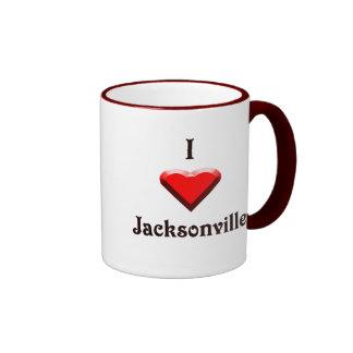 Jacksonville -- Red & Black Coffee Mug