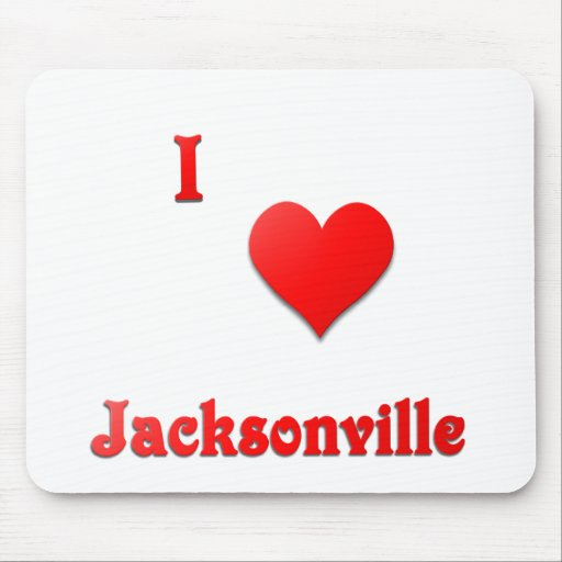 Jacksonville -- Red Mousepad