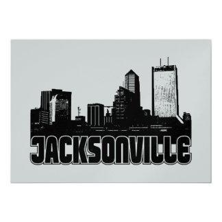 Jacksonville Skyline 13 Cm X 18 Cm Invitation Card