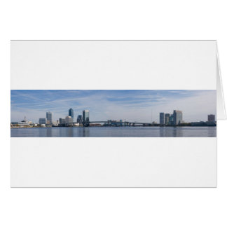 jacksonville skyline panoramic card