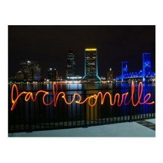 Jacksonville Skyline Postcard