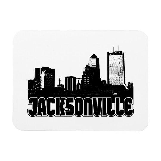 Jacksonville Skyline Rectangular Photo Magnet