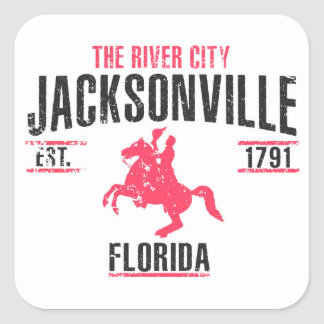 Jacksonville Square Sticker
