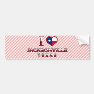 Jacksonville, Texas Car Bumper Sticker