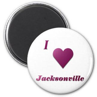Jacksonville -- Wine 6 Cm Round Magnet