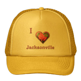 Jacksonville -- with Red Rose Mesh Hat
