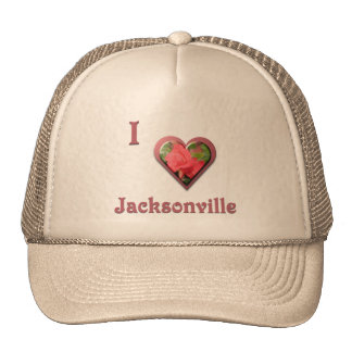 Jacksonville -- with Red Rose Trucker Hat