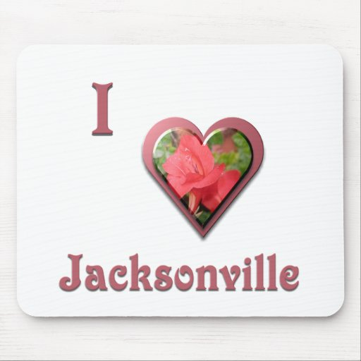 Jacksonville -- with Red Rose Mousepads