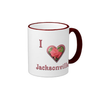 Jacksonville -- with Red Rose Mug