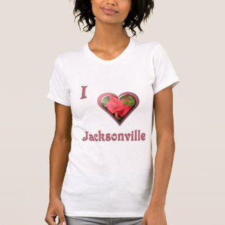 Jacksonville -- with Red Rose T-Shirt