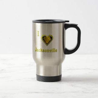 Jacksonville -- with Yellow Flower Coffee Mug