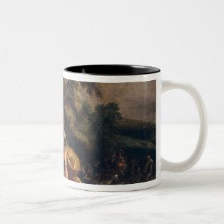 Jacob and the Angel Two-Tone Coffee Mug