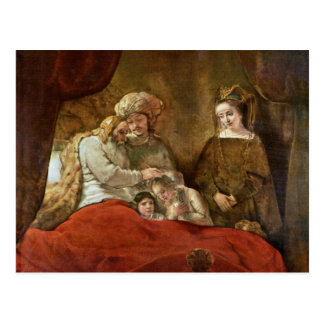 Jacob Blessing The Sons Of Joseph Postcard