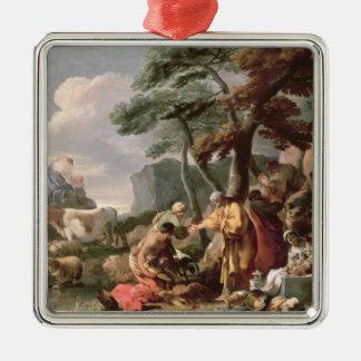 Jacob burying the strange gods under the oak christmas ornament