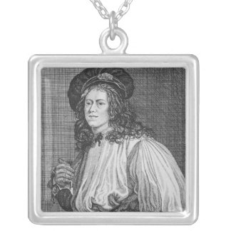 Jacob Hall, the famous Rope Dancer, 1792 Silver Plated Necklace