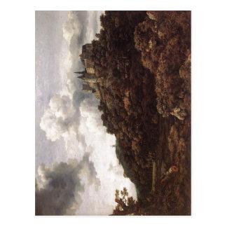 Jacob Isaakszoon van Ruysdael Die Burg Bentheim Be Postcard