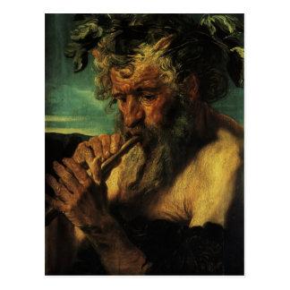 Jacob Jordaens- Bust of Satyr Postcard